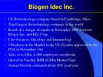 biogen idec inc