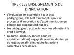 tirer les enseignements de l innovation19