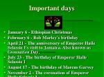 important days