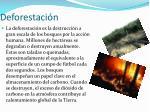 deforestaci n