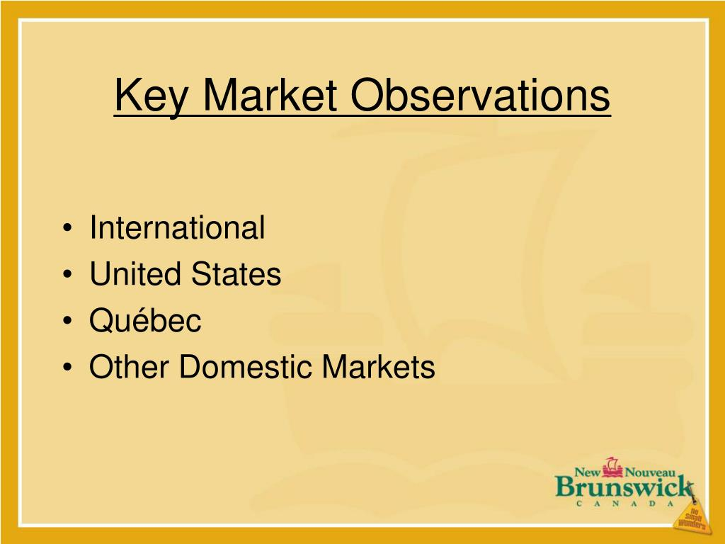 Key Market Observations