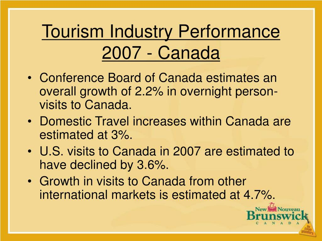 Tourism Industry Performance 2007 - Canada