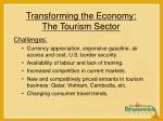 transforming the economy the tourism sector20