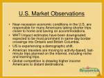 u s market observations