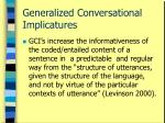 generalized conversational implicatures