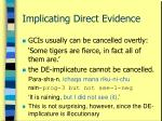 implicating direct evidence26