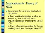 implications for theory of gcis44