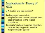 implications for theory of gcis46