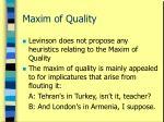 maxim of quality22