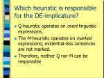 which heuristic is responsible for the de implicature
