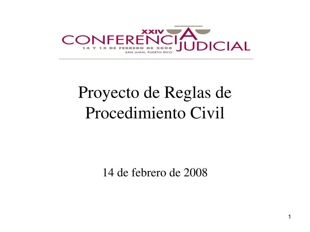 proyecto de reglas de procedimiento civil l.