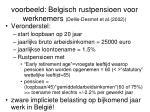 voorbeeld belgisch rustpensioen voor werknemers dellis desmet et al 2002