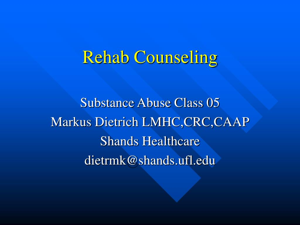 rehab counseling l.
