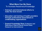 what more can be done to increase awareness knowledge