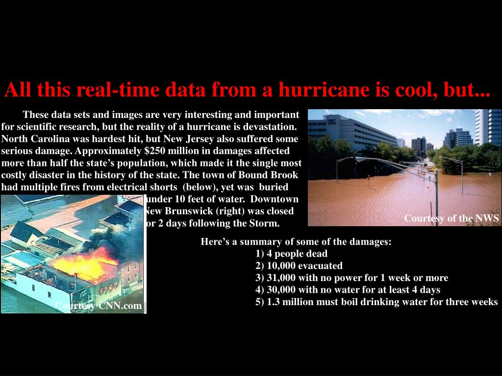 All this real-time data from a hurricane is cool, but...