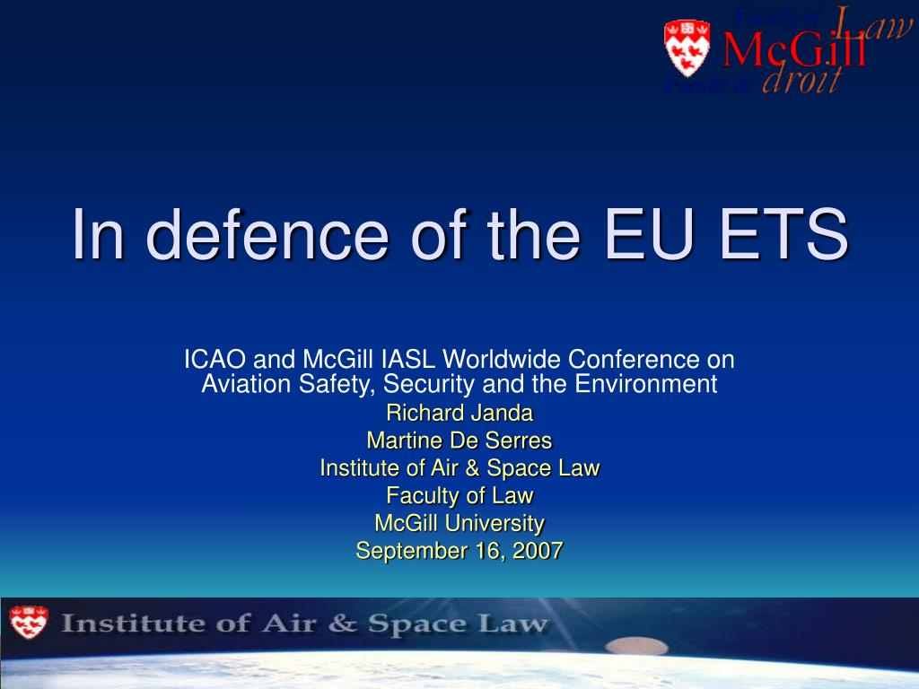 in defence of the eu ets l.