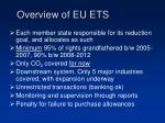 overview of eu ets