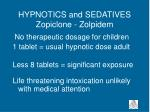 hypnotics and sedatives zopiclone zolpidem