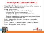 five steps to calculate sm roi