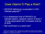 does vitamin d play a role17