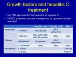 growth factors and hepatitis c treatment
