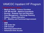 vamcdc inpatient hf program