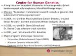 center for human genetics
