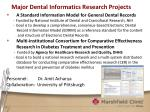 major dental informatics research projects