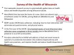 survey of the health of wisconsin