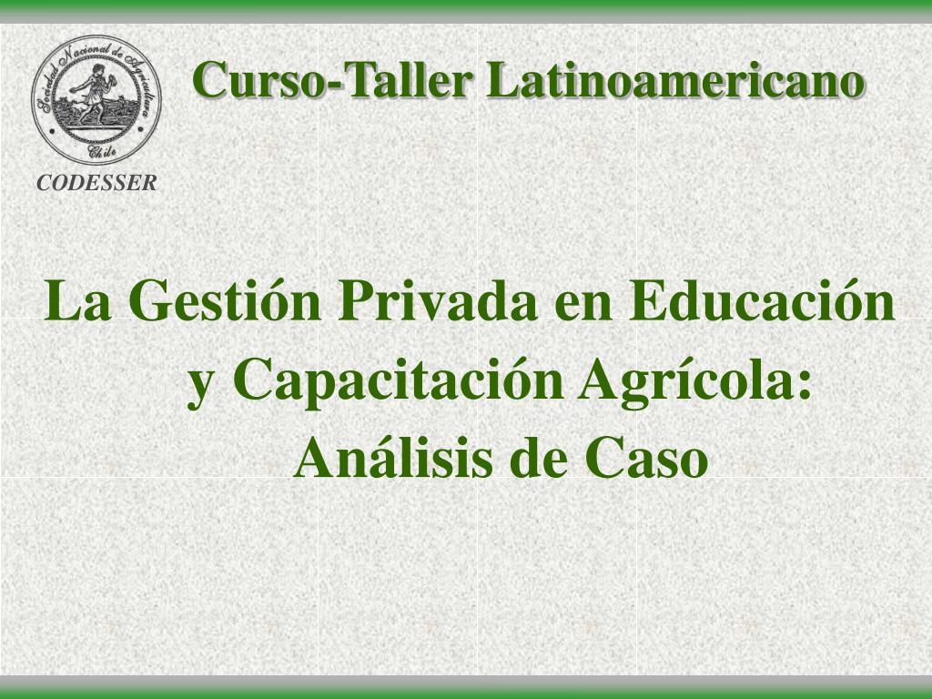 curso taller latinoamericano l.