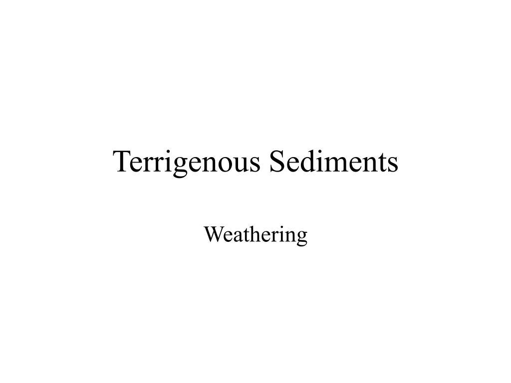 terrigenous sediments l.