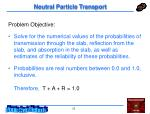 neutral particle transport23