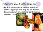 preventing viral disease in plants