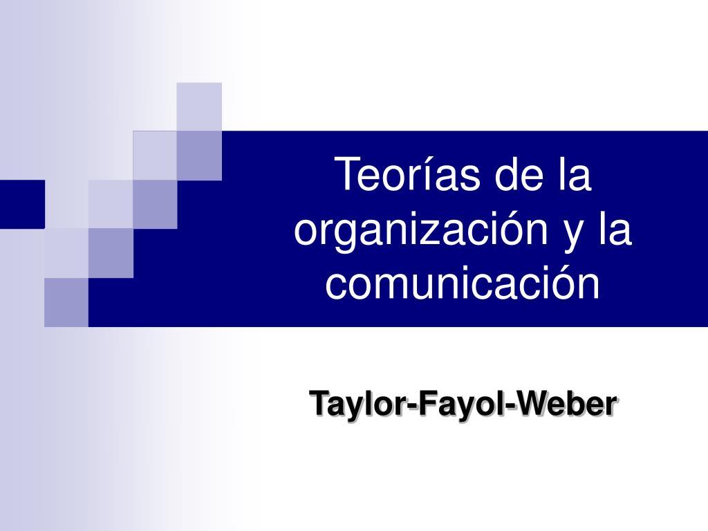 teor as de la organizaci n y la comunicaci n l.