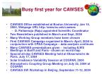busy first year for cawses