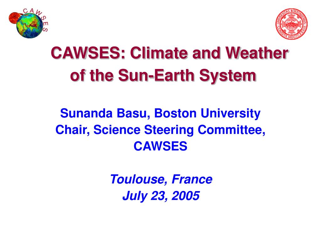 cawses climate and weather of the sun earth system l.