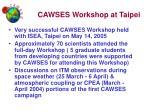 cawses workshop at taipei