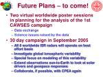 future plans to come