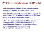 i y 2007 celebrations of igy 50
