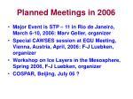 planned meetings in 2006