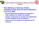science plans activities for different themes theme 1