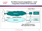 facilities based competition each competitor builds fttp network
