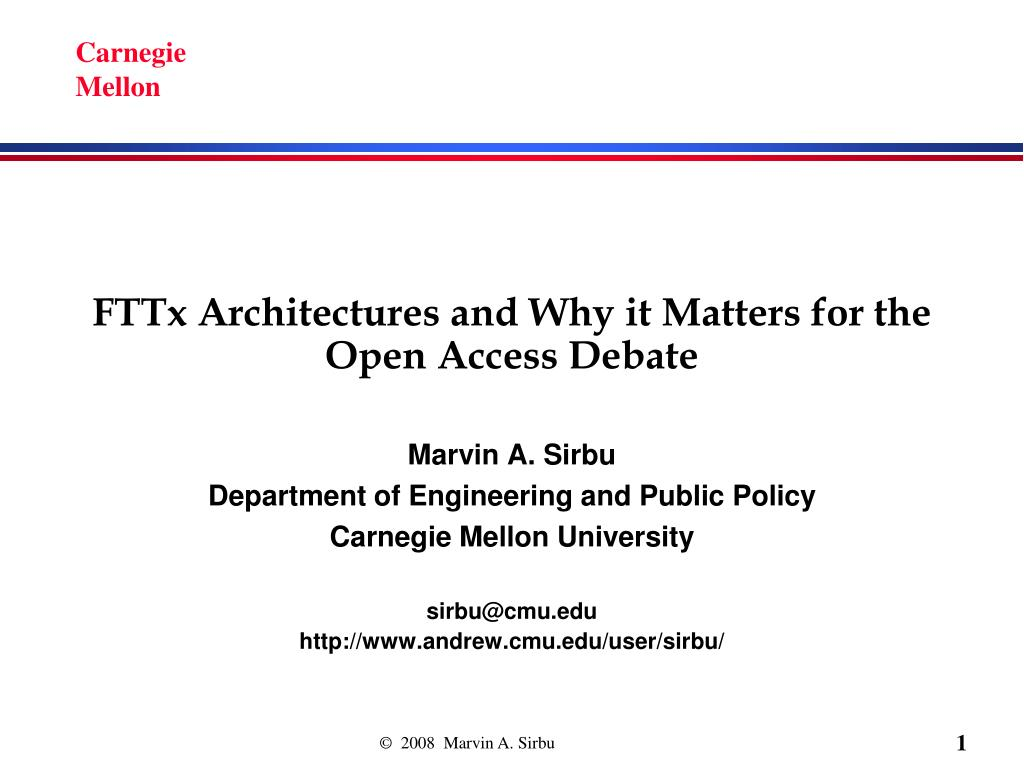 fttx architectures and why it matters for the open access debate l.