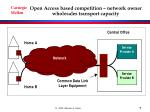 open access based competition network owner wholesales transport capacity