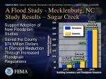 a flood study mecklenburg nc study results sugar creek