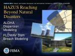 hazus reaching beyond natural disasters