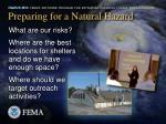 preparing for a natural hazard