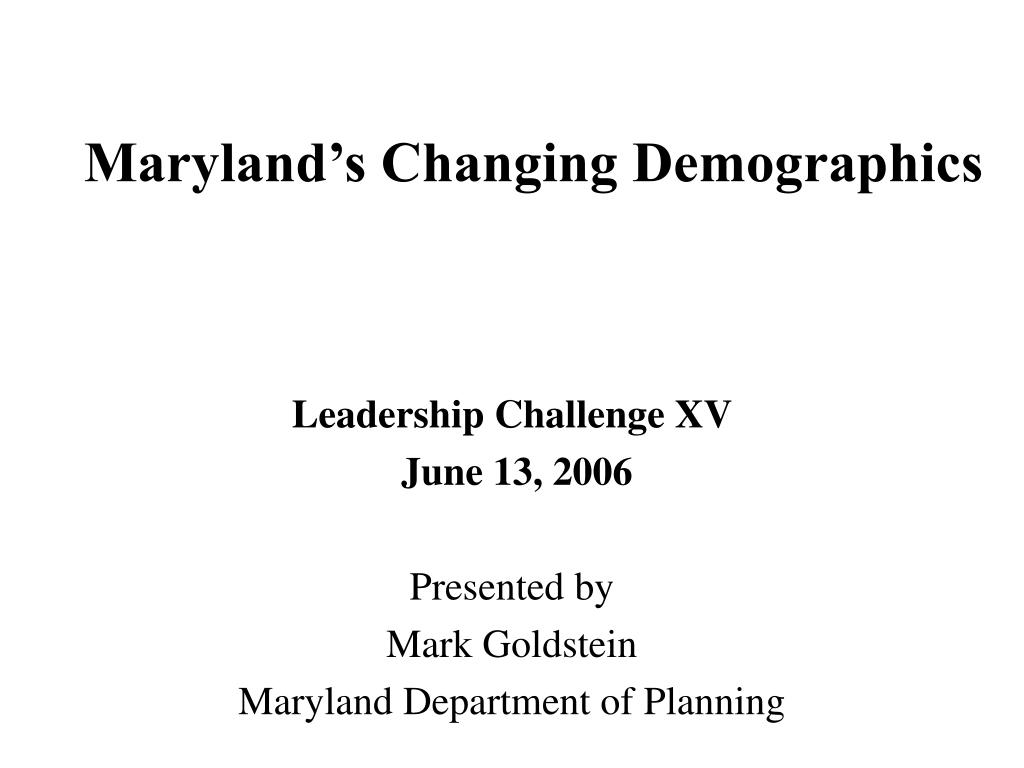 maryland s changing demographics l.