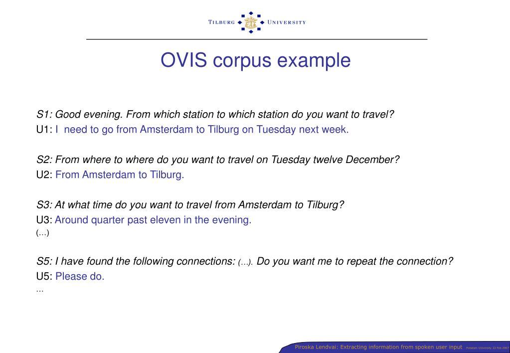 OVIS corpus example