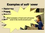 examples of soft power